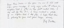 Fitz Fulton, Pilot of 747 carrying the Shuttle, signed letter fragment