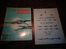 Ancien Manuel de Nage La Natation d'Aujourd'hui 1973 & Ecole Elémentaire