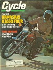 1976 Cycle Magazine: Kawasaki KZ650 Four/Tires and Rims