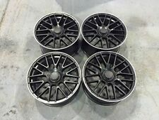 "19"" C63 AMG Style Wheels Satin Black Machined Mercedes C E Class W204 W205 W212"