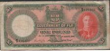 New listing Fiji , 1 Pound , 1.8.1949 , P 40d , Prefix B/4 , Rare
