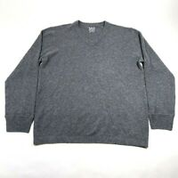 SCP Cashmere Sweater Jumper Mens XL Gray V Neck Boxy Long Sleeve