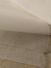 39 INCH X 50 INCH OFF WHITE NETTING VEILING
