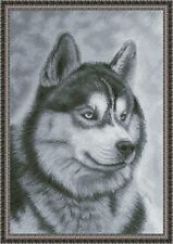 LOVELY HUSKY - Counted cross stitch kit (with DMC threads)