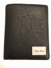 Blue Mount Black PU Faux Leather Bifold Card Holder Wallet