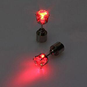 Men Women LED Earring Glow Light Up Bright Bling Earring Ear Stud for Party Bar