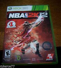 X-BOX 360 Game -NBA 2K12 - w/Manual - 2011 - Rated E - EUC!