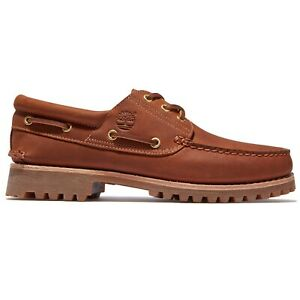 Timberland Men's Shoes - Timberland Authentic 3 Eye Boat shoes - Rust Full-Grain