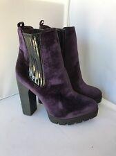 Report Signature Polk Women US 6 Purple Ankle Boot NWOB Minor Blemish