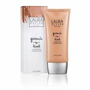 NIB Laura Geller Quench N Tint Hydrating Foundation 1.7 fl oz LIGHT MEDIUM