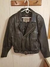 Vintage  .Open Road. Black Biker Leather jacket.  With Zip In Thinsulate Liner