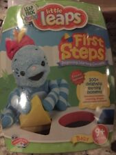 NEW Leap Frog Baby Little Leaps FIRST STEPS Games DVD Book Catridges 9+ Months