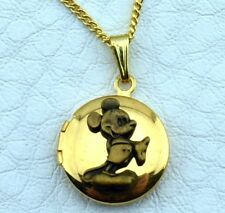 Vintage Disney Licensed Polished Mickey Mouse Locket Pendant Necklace -NOS