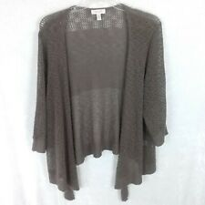 d6673fb78fc Dress Barn Cardigan Sz 3x Open Front Loose Knit Brown Sweater