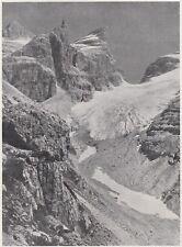 D7258 La Testata della Vallesinella - Stampa d'epoca - 1930 vintage print
