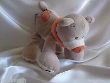 Doudou ours beige, écru, empreinte, Nattou