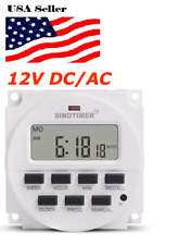 12V DC SINOTIMER DISPLAY TM618H-4 LCD Digital Timer Programmable Time Switch