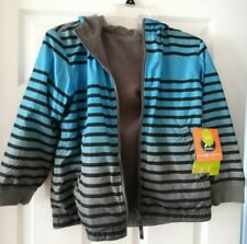 new boy's Athletech reversible water resistant hooded jacket - size 8, nwt