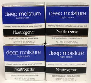 4 PK Neutrogena Deep Moisture Night Cream ~ 2.25 oz EACH ~ FAST, FREE SHIP