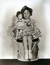 Shirley Temple Holding A Shirley Temple Doll Identical Polka Dot Dresses GREAT