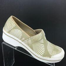 Dansko Vegan Volley Palm Canvas Clogs Beige Shoe Womens SIZE 42 / 11.5 - 12