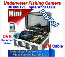 """Hd 600 Tvl 7"""" Tft Color Lcd Underwater Fishing Camera Fish Finder 50M Cable Dvr"""