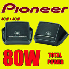 PIONEER 80W totale BOX TIPO MENSOLA POSTERIORE Ponte Auto / Furgone / Camper / Barca / Pod Altoparlanti Nuovi