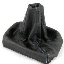 SEAT IBIZA CORDOBA 92-01 blu cuciture pelle nera GEAR STICK Manopola Copertura Ghetta