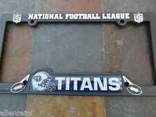 1 Tennessee Titans Black Plastic License Plate Frame