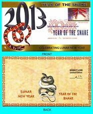 Year of The Snake  First Day Cover with Color Cancel Type 1