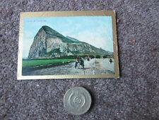 PAN HANDLE  SCRAP  Sights & Scenes Rock of GIBRALTAR  Spain Tobacco Card 1911-12
