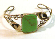 TAXCO .925 Sterling Silver Unique Cuff Bracelet Turquoise Stone from Mexico