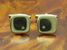 925 Sterling Silver Cufflinks with Glass Decorations / Real Silver/Gold Plated