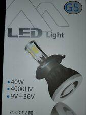 LED Kit G5 80W 9003 HB2 H4 5000K White Head Light Two Bulbs H/L Beam Replace
