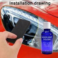 9H Hardness Car Headlight Len Restorer Repairs Liquid Polish Cleaning Tool 30ML