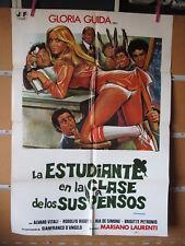 A4309 La estudiante en la clase de los suspensos Gloria Guida,  Alvaro Vitali,