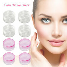10X Plastic Pot Clear/Pink Empty 5ml Screw Top Cosmetic Containers Samples Wniu