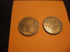 "(2) CHUCKY CHEESE TOKENS - 1990 &1991 - ""Where a Kid can be a Kid"""