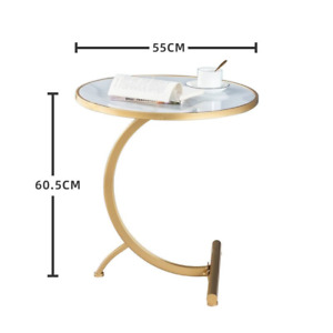C Shaped Coffee Table Nordic Round Coffee Tea Side Table Outdoor Garden Table