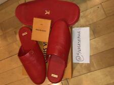 ef25235a891 RARE LOUIS VUITTON x SUPREME Red Hugh Slipper Size 9 US