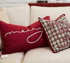 Pottery Barn Merry Lumbar Decorative Pillow Cover 16x26