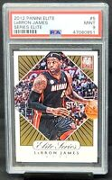 2012 Elite Series Lakers Star LEBRON JAMES Basketball Card PSA 9 MINT Low Pop 9