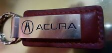 Acura Logo Black Leather Key Chain Keychain, Official Licensed