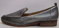 Vince Camuto Size 6 Dark Silver Leather Loafers New Womens Shoes