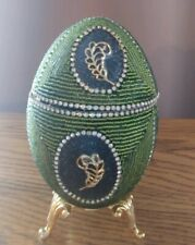 Beautiful handmade Faberge inspired egg vintage home decor