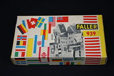 W043 FALLER Train Maquette 939 Assortiment drapeaux pays flag assortment
