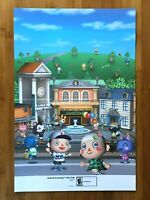 2009 Official Animal Crossing City Folk / Rayman Rabbids Go Home Wii Poster RARE