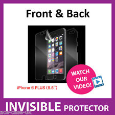 iPhone 6 Plus INVISIBLE Screen Protector Shield - Full Body FRONT AND BACK Guard