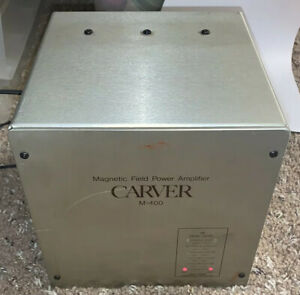 Vintage Carver M-400 Magnetic Field Power Amplifier Tested And Works