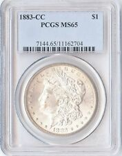 1883-CC $1 Morgan Silver Dollar PCGS MS65